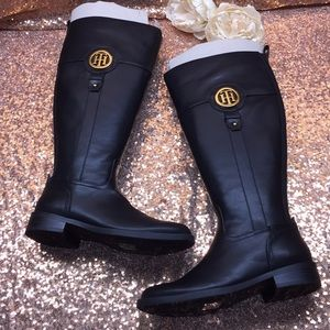 Tommy Hilfiger Black Riding Boot 5.5 WC